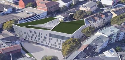 So soll sich das neue Rathaus in die Schwelmer Innenstadt laut des ersten Entwurfs in die Umgebung einfügen.