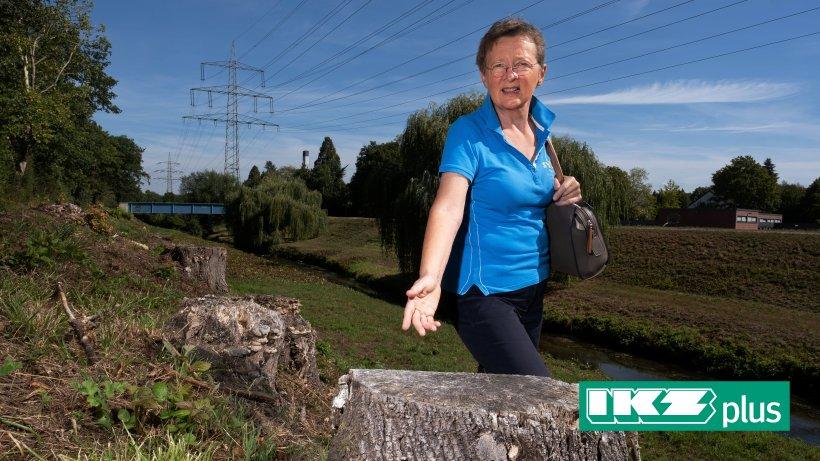 Bäume gefällt: Duisburgerin beklagt Kahlschlag am Angerbach