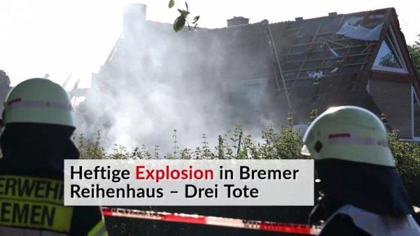 heftige explosion in bremer reihenhaus drei tote ikz panorama. Black Bedroom Furniture Sets. Home Design Ideas